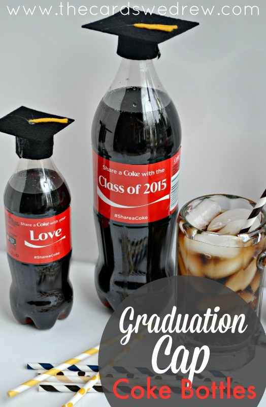 Graduation Cap Coke Bottles from The Cards We Drew