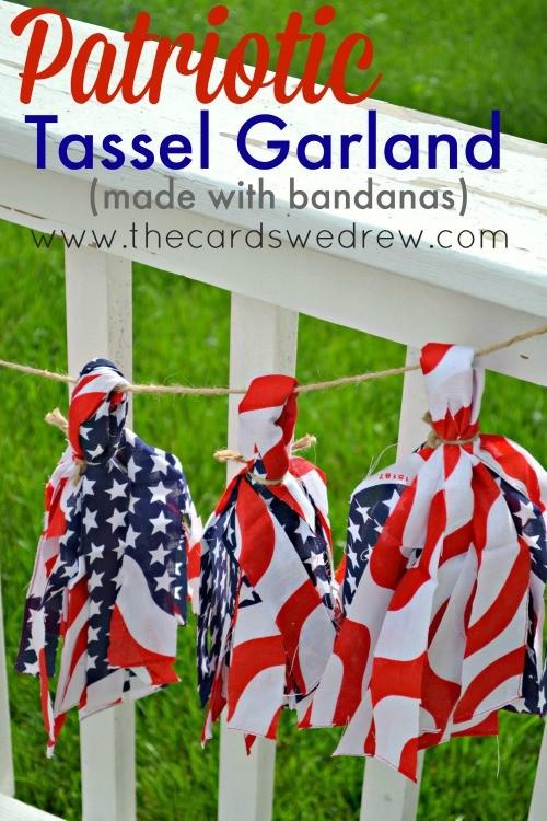 Patriotic Bandana Tassel Garland