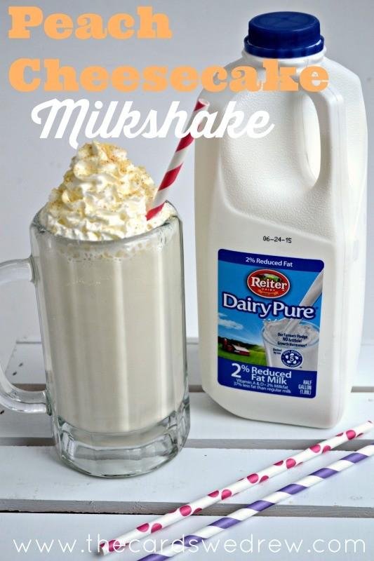 Peach Cheesecake Milkshake Recipe