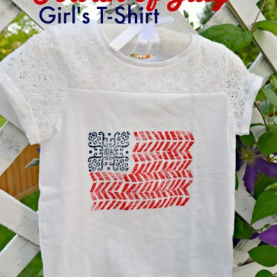 Stamped July 4th Baby Girl's Outfit
