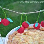 Cherry Crumble Pie with Cherry Garland
