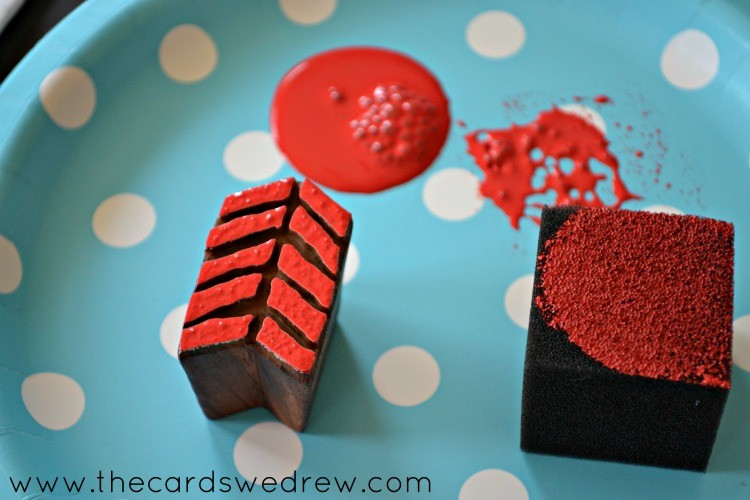red block stamping