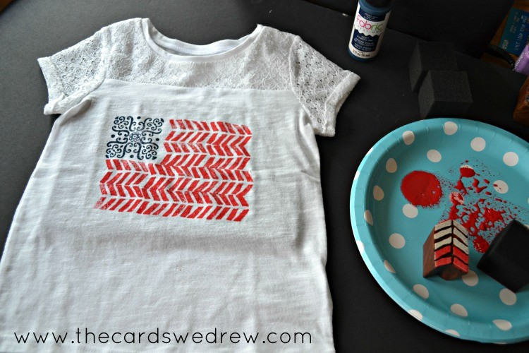 stamped flag shirt supplies