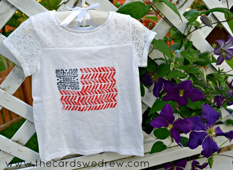 stamped flag shirt