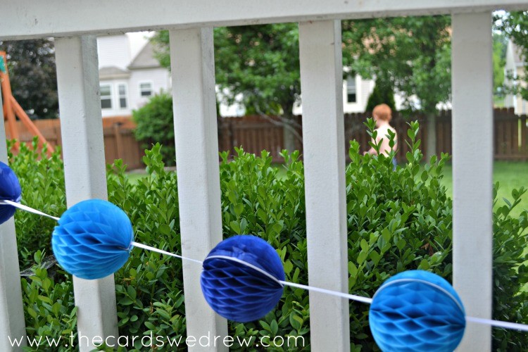 under the sea pom decorations
