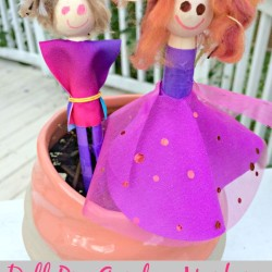 Doll Pin Garden Markers from We Made It Kits by Jennifer Garner