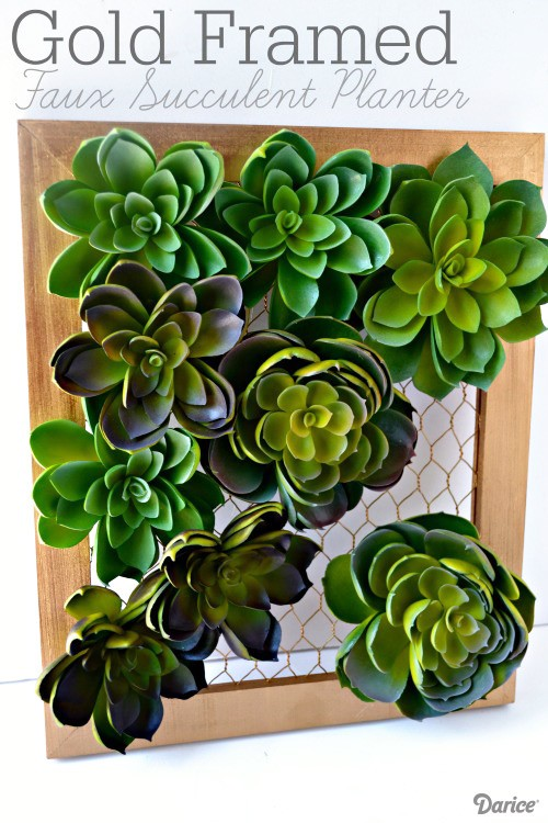 Gold-Framed-Faux-DIY-Succulent-Planter-Darice-1