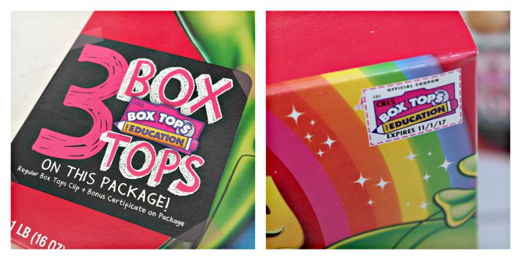 Cut Out Box Tops for Education