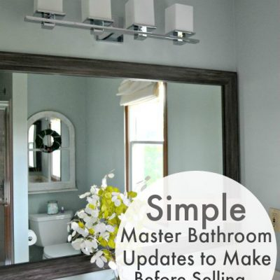 Simple Master Bathroom Updates to Make Before Selling