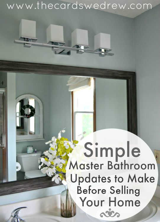 Simple master bathroom updates to make before selling for Bathroom updates