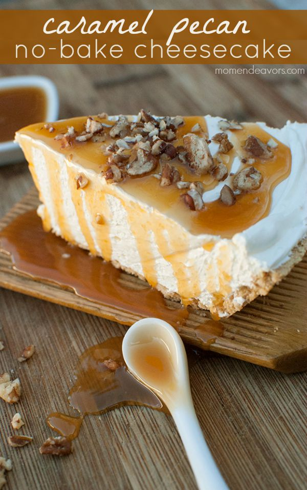 caramel-pecan-no-bake-cheesecake
