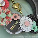 Hello Modern Front Door Wreath