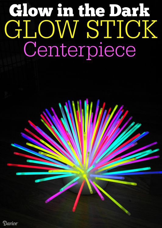 Diy glow in the dark party supplies diy do it your self for Glow in the dark centerpiece ideas