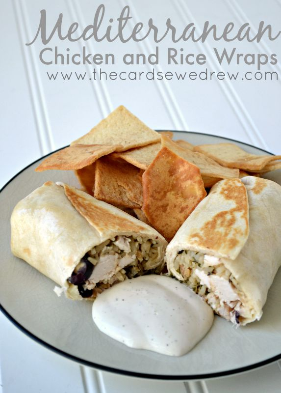 Meditteranean Chicken and Rice Wraps from The Cards We Drew #JustAddRice #ad