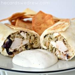 Mediterranean Chicken and Rice Wraps