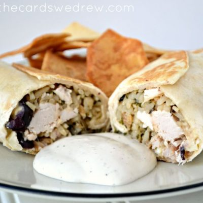 Mediterranean Chicken and Rice Wraps