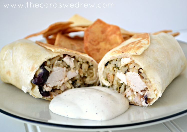 chicken feta hummus wraps