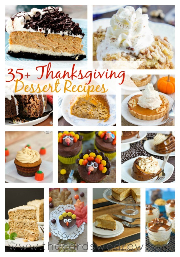 35+ Thanksgiving Dessert Recipes