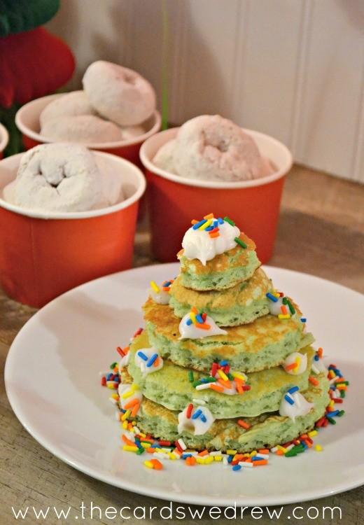 Christmas Tree Pancake Stacks