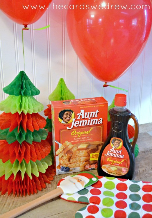 Pancake Christmas Party with Aunt Jemima
