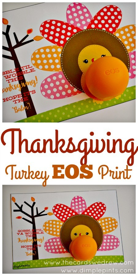 Thanksgiving EOS Turkey Printable from The Cards We Drew and DimplePrints