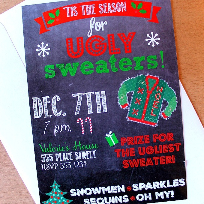 Ugly Sweater Invite Square