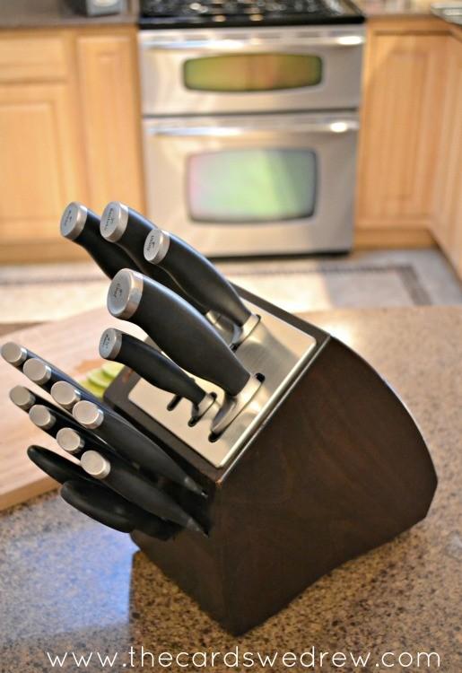 calphalon self sharpening knife set