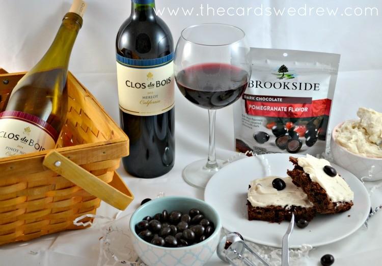 Clos du Bois Red Wine brownies