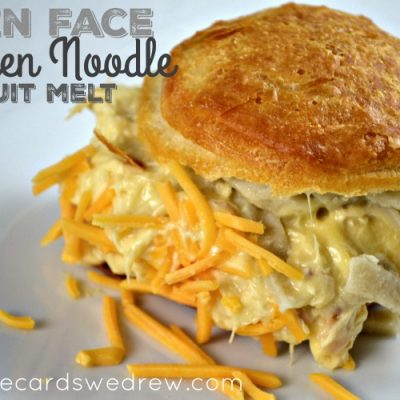 Open Face Chicken Noodle Biscuit Melt