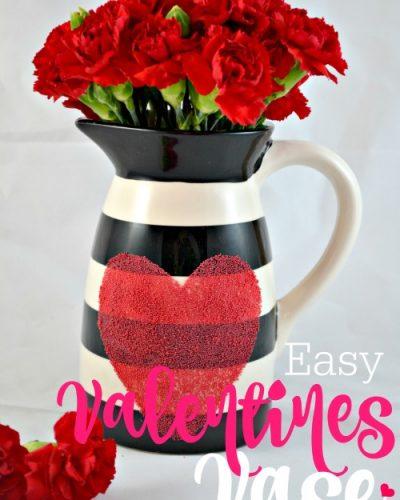 Easy Valentine's Vase