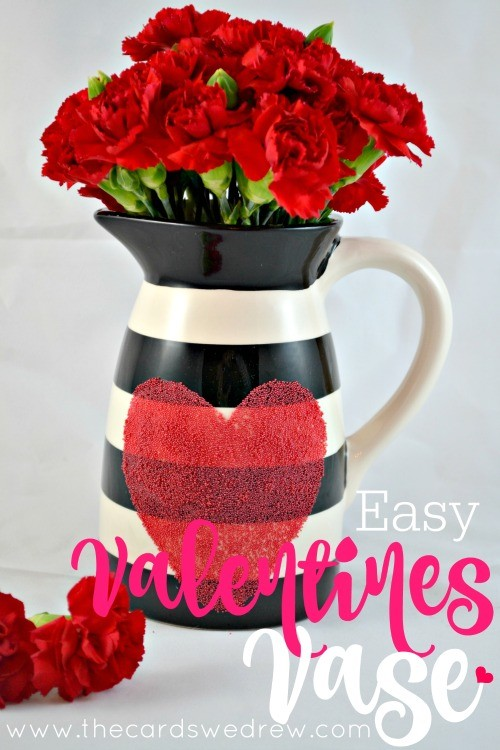 Easy Valentines Vase Idea from The Cards We Drew