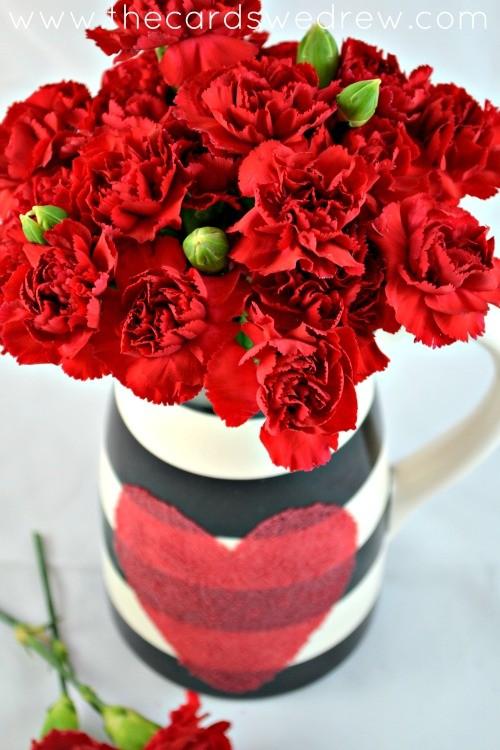 modern valentines day vase