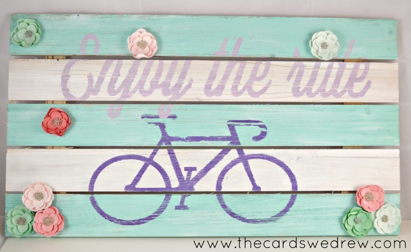 Enjoy the Ride Bicycle Sign