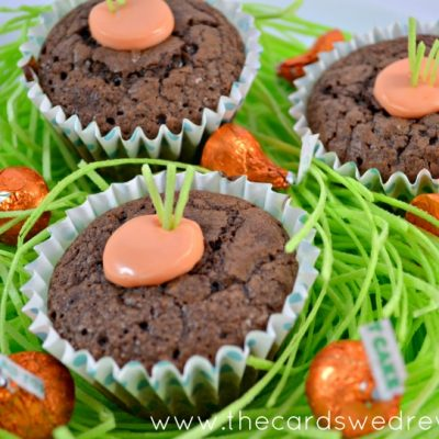 Carrot Brownie Cups { Easter Dessert Idea }