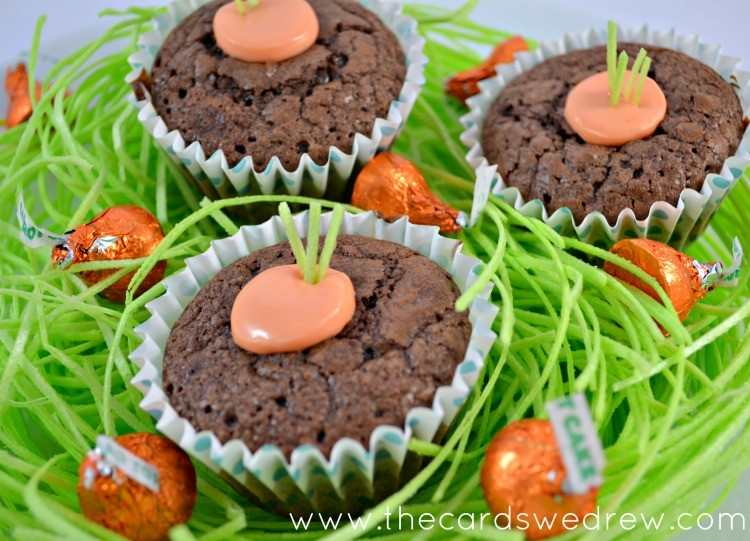 Carrot in the Ground Brownie Cups
