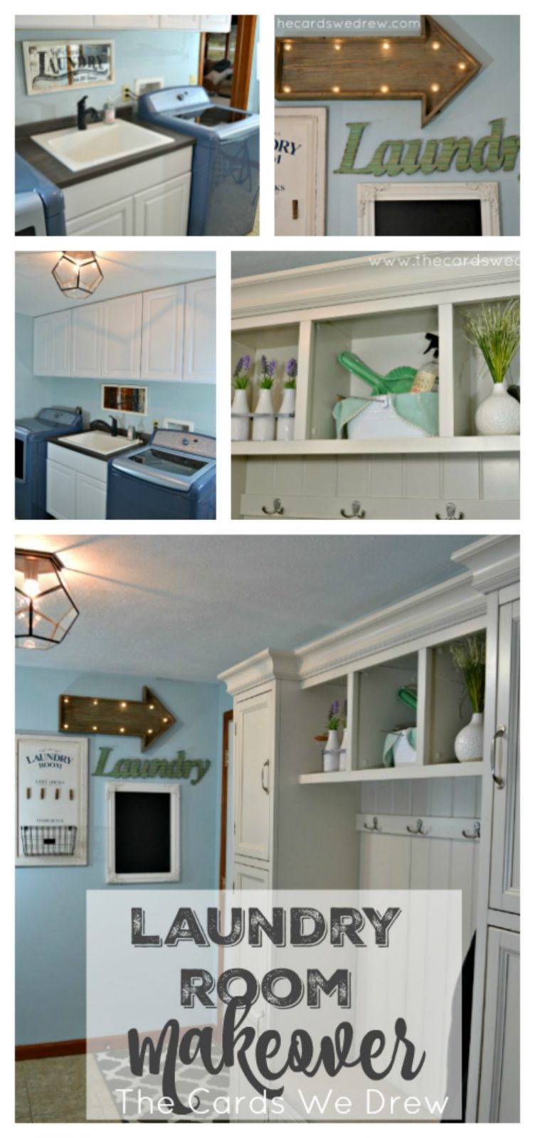 Laundry Room Makeover - The Cards We Drew