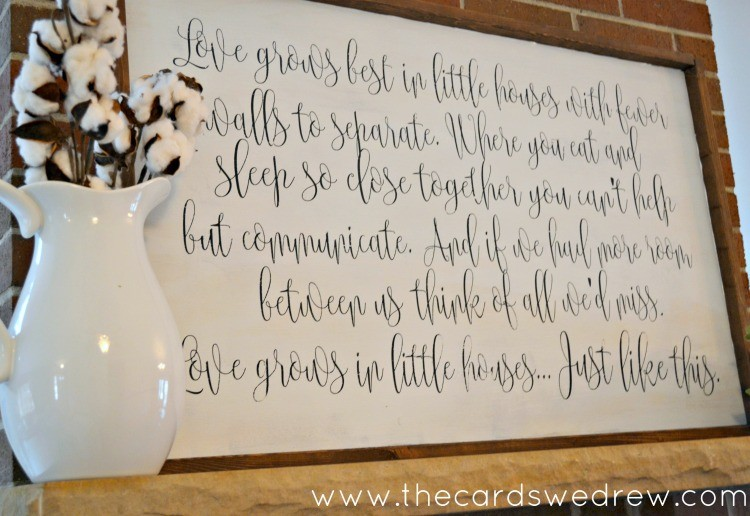 Love grows best in little houses DIY sign