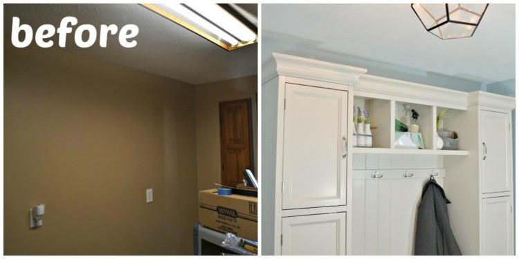 before and after laundry room reveal