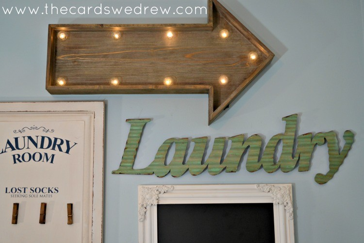 gallery wall for laundry room
