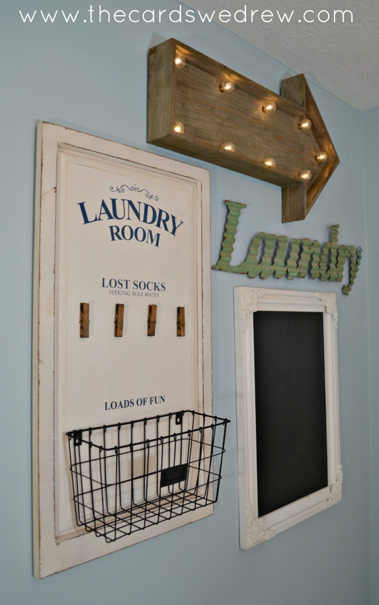 Laundry Room Gallery Wall