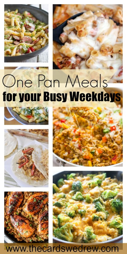 One Pan Meals for your Busy Weekday | www.thecardswedrew.com