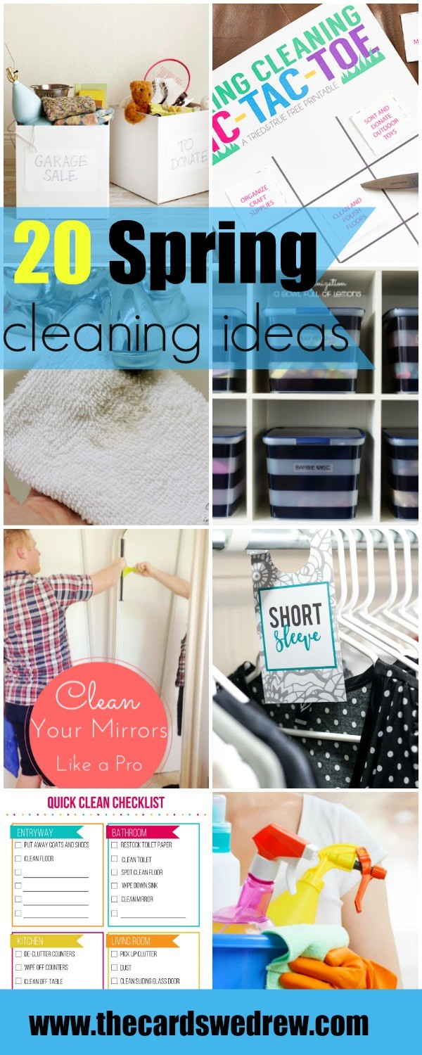 20 Spring Cleaning Ideas | www.thecardswedrew.com