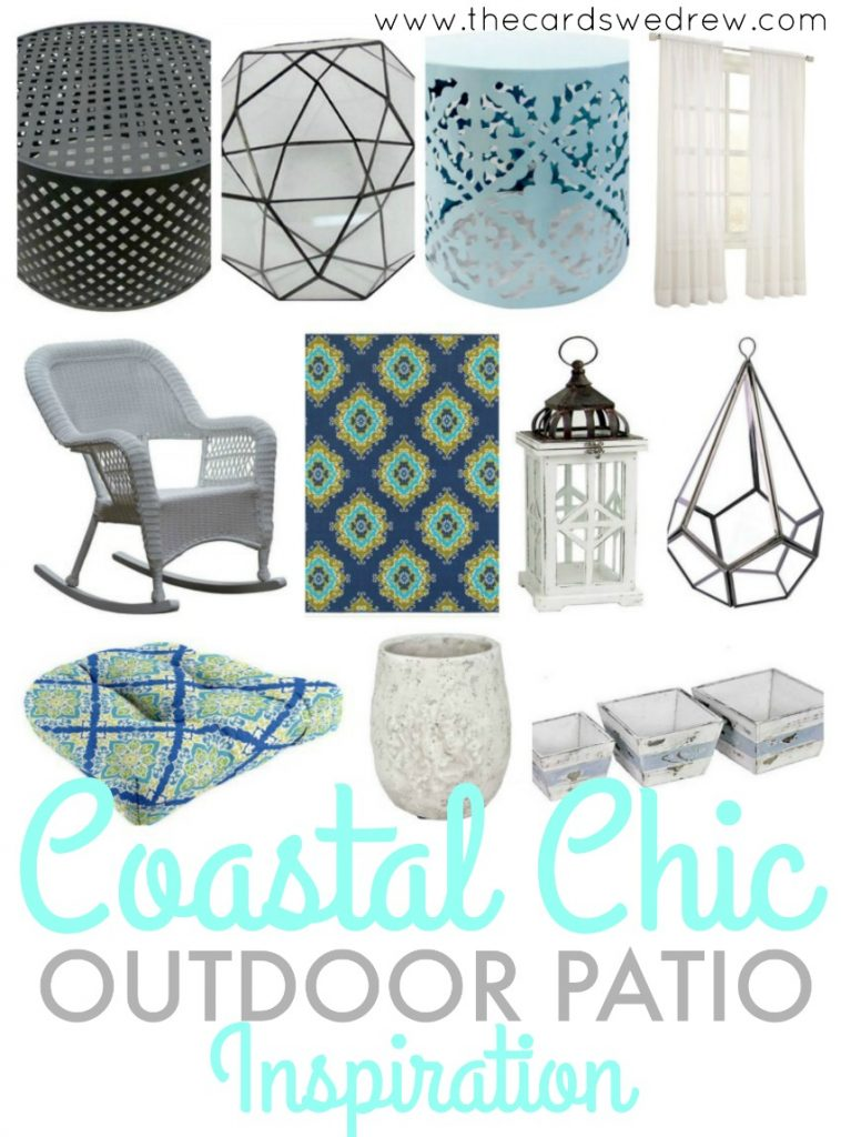 Coastal Chic Outdoor Patio Inspiration from The Cards We Drew @athomestores #athomefinds #ad