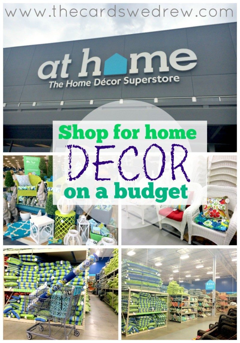 How to shop for home decor on a budget the cards we drew for Home decorative accessories shopping