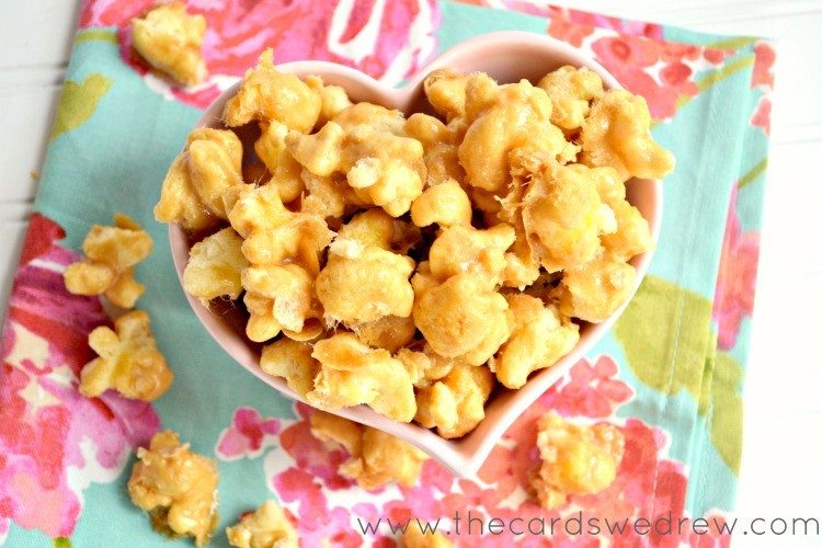 easy caramel puff corn recipe