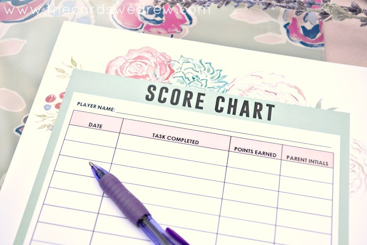 spring cleaning score chart