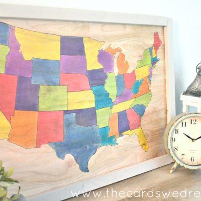 FolkArt Ultra Dye DIY United States Map