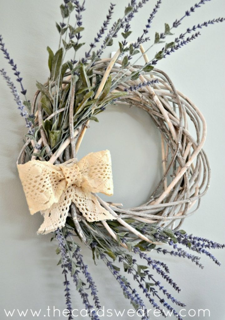 Easy Spring Wreath Idea
