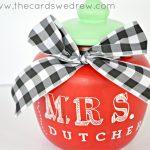 Apple Candy Jar Teacher Gift Idea