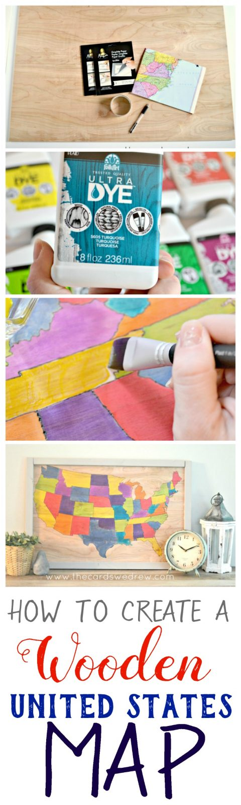 How to Create a Wooden United States Map from The Cards We Drew